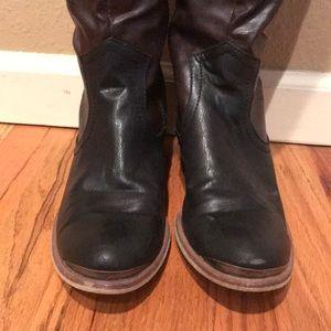 BareTraps Shoes - BARE TRAPS Two Tone Riding Boots 9.5B